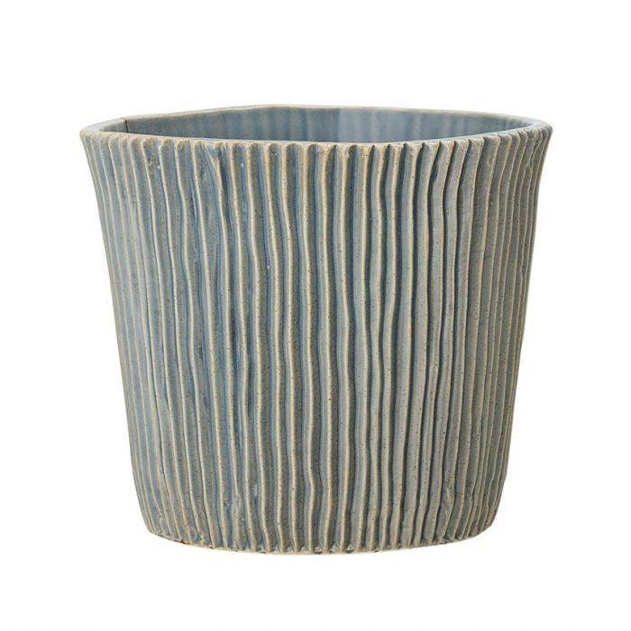 8.25 planter - blue glaze