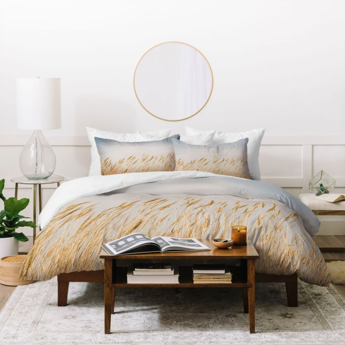 nantucket gold duvet cover & pillow shams