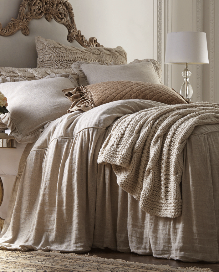 the augusta bedspread-natural