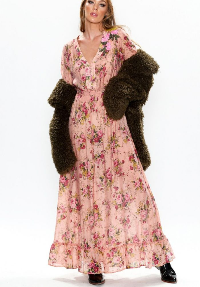 Aunt Fran's rose garden dress