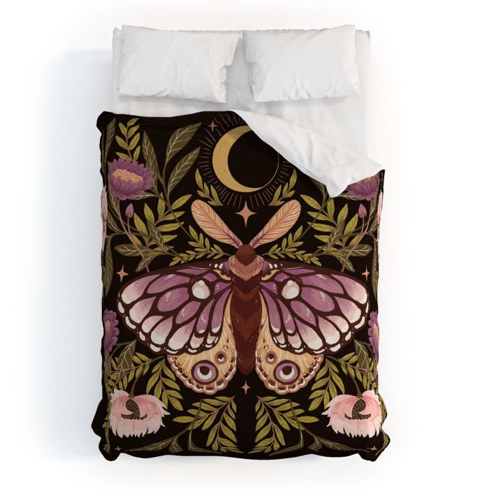 Countryside Garden Moth Duvet & Sham Set -- available in two colors!
