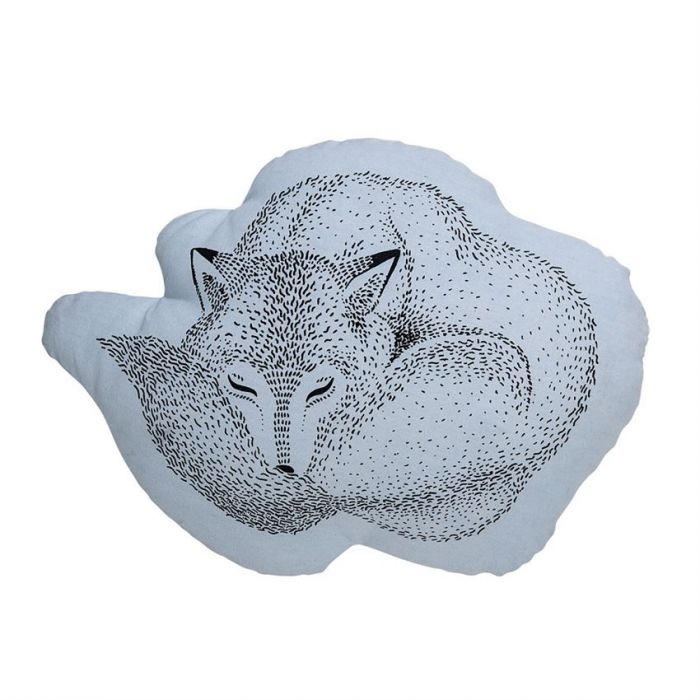 sleeping fox pillow
