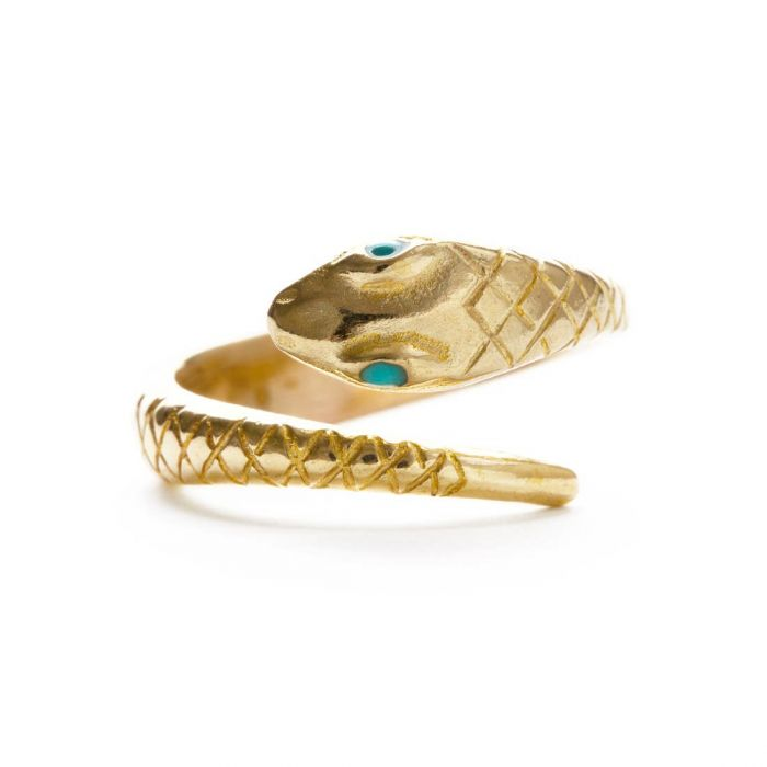 Victorian Snake Ring | Turquoise