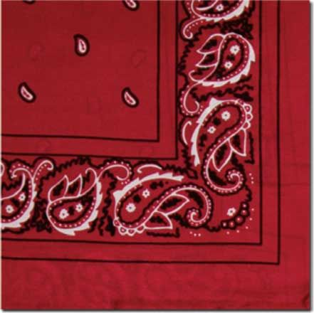 red bandana wild rag