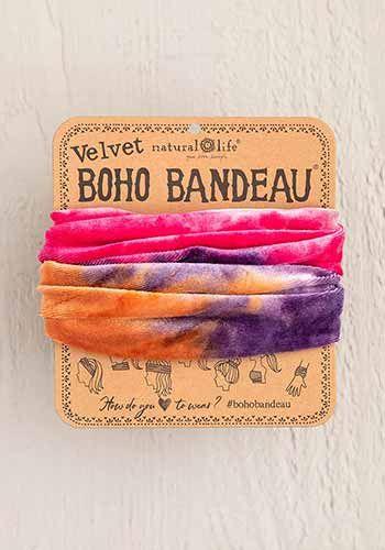 Velvet Pink Tie-Dye Half Boho Bandeau