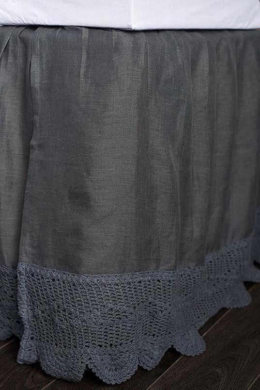 lucinda bedskirt-charcoal