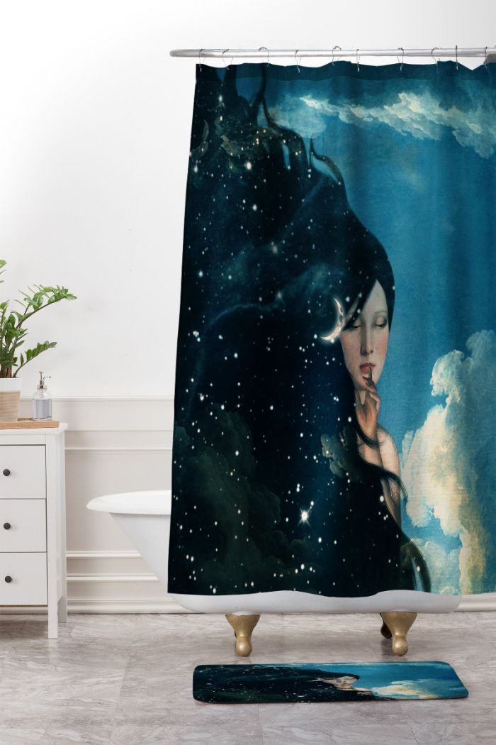 belle time for sleep shower curtain & mat
