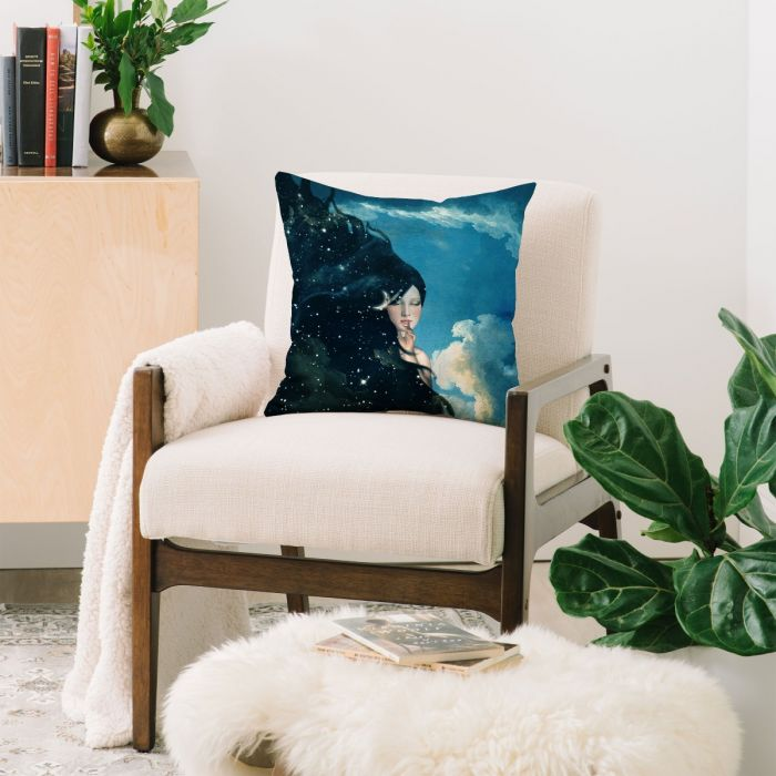 belle time for sleep throw pillow