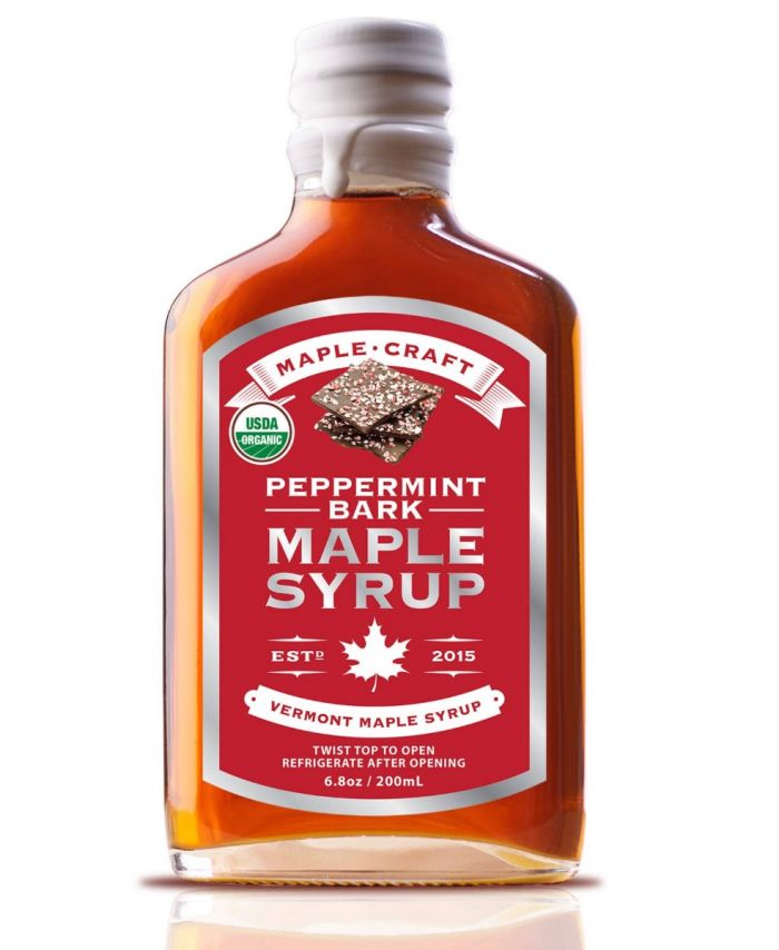 peppermint bark maple syrup