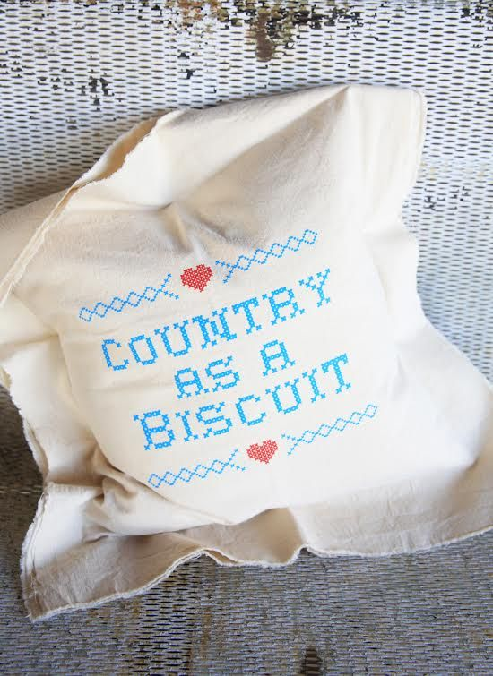 country as a biscuit pillow