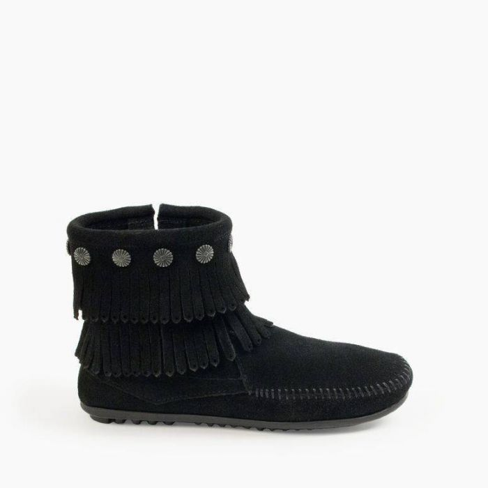 double fringe side zip boot -- multiple colors!