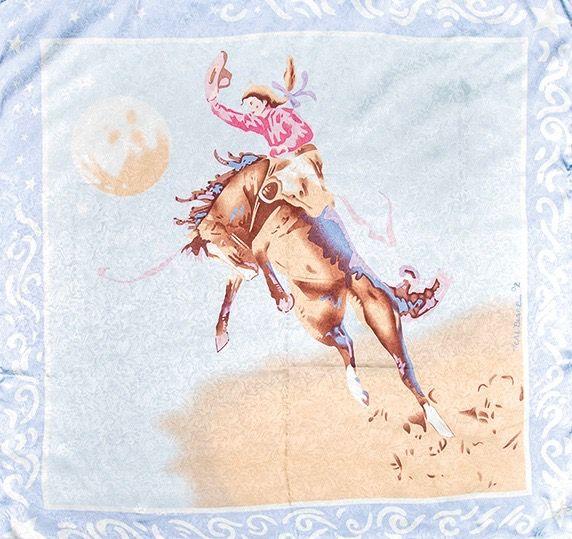 blue cowgirl wild rag