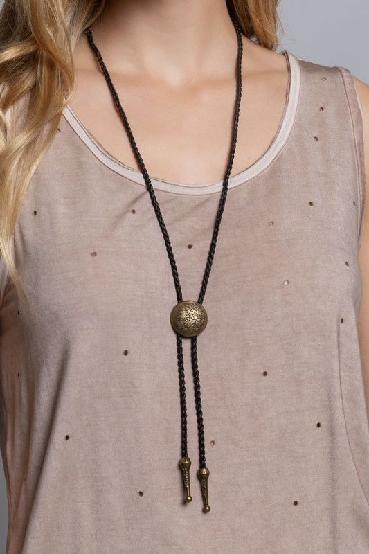 bolo tie with indian concho