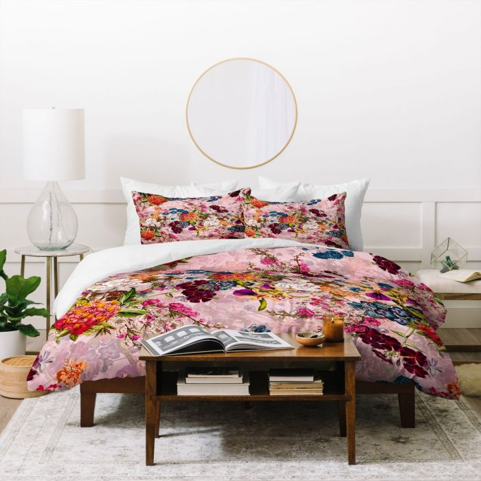 summer botanical garden viii duvet cover & pillow shams