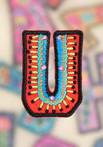 "letter patch ""u"""