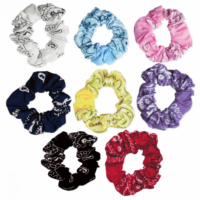 bandana print scrunchie