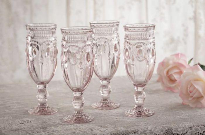 rosebud champagne flute