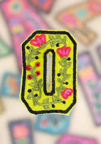 "letter patch ""o"""
