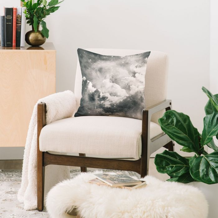 find me among the stars throw pillow