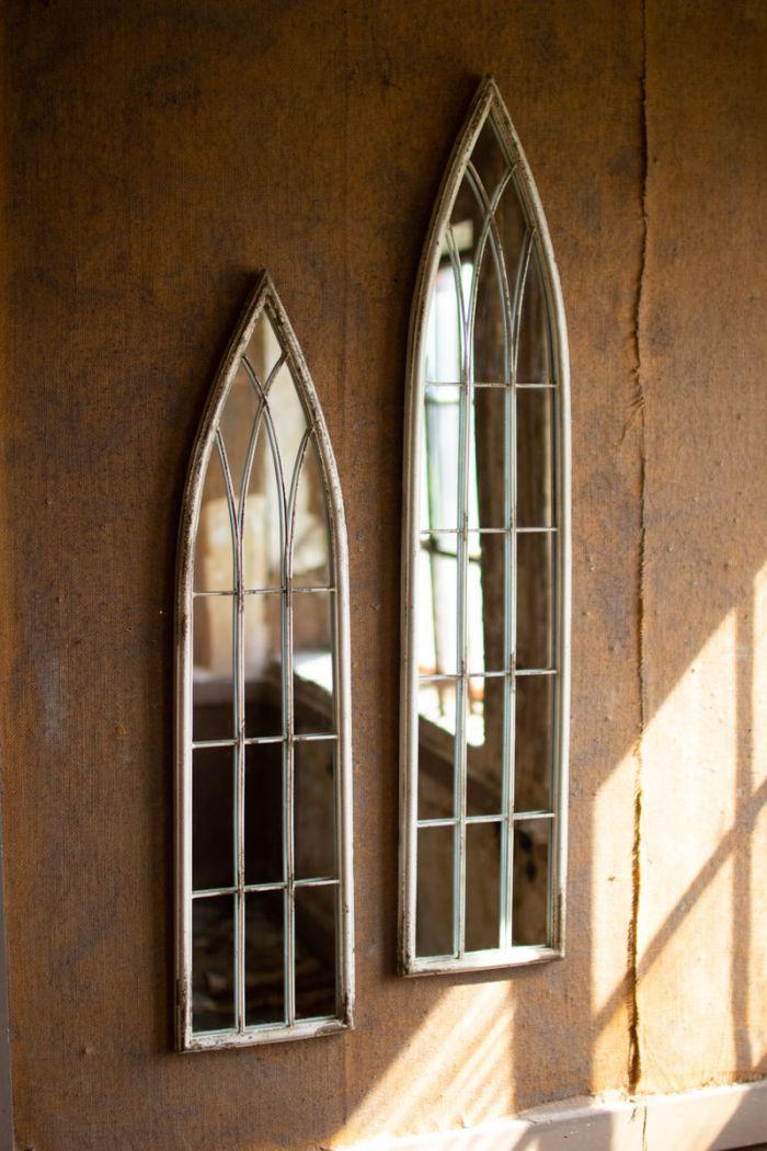 metal church mirror set