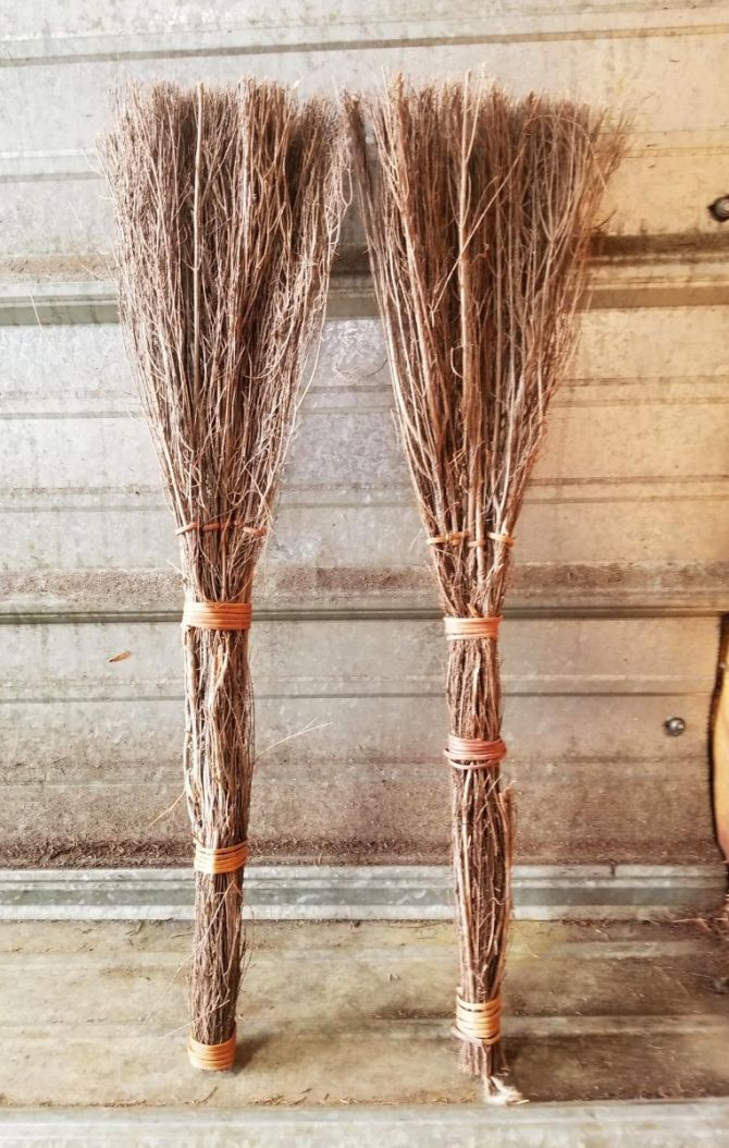 "24"" Cinnamon Broom - handmade in Georgia!"