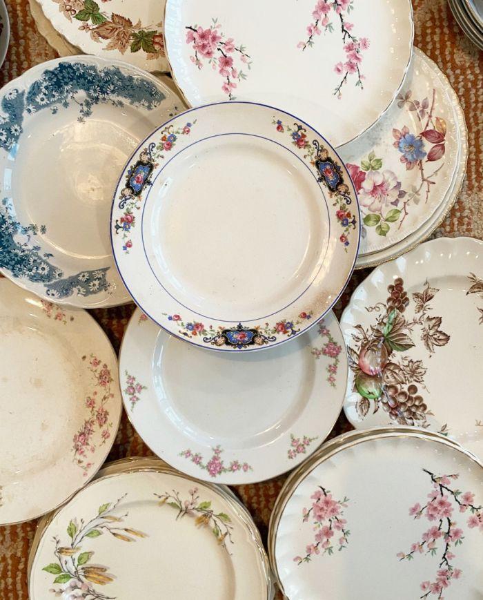 mix-matched china sets