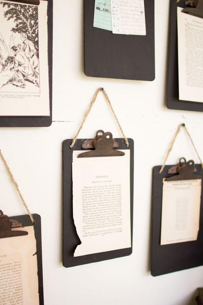 black clip board photo holder