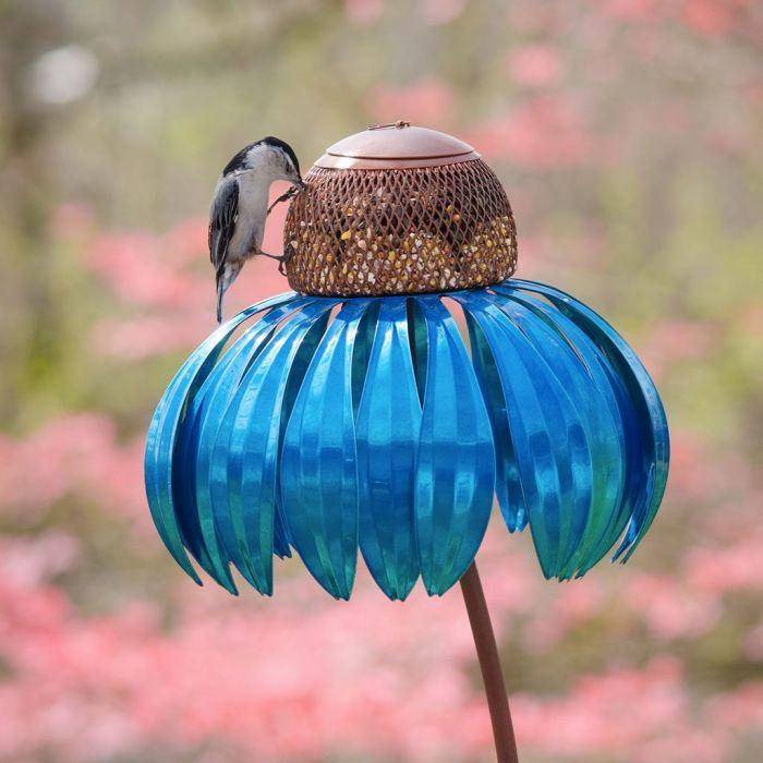Desert Steel Blueberry Pie Coneflower Bird Feeder