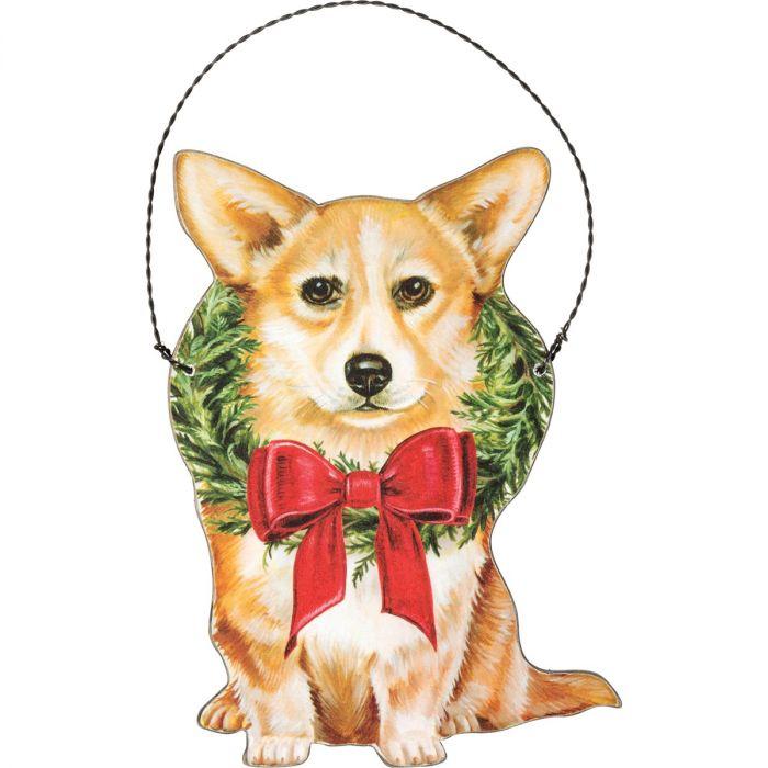 christmas corgi ornament