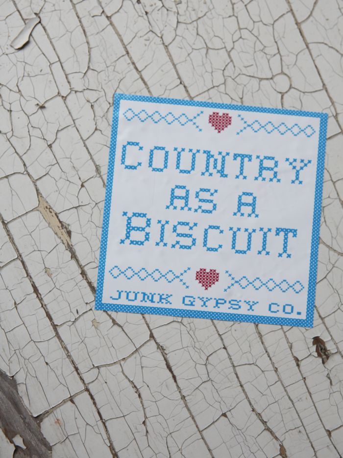 country as a biscuit bumper sticker