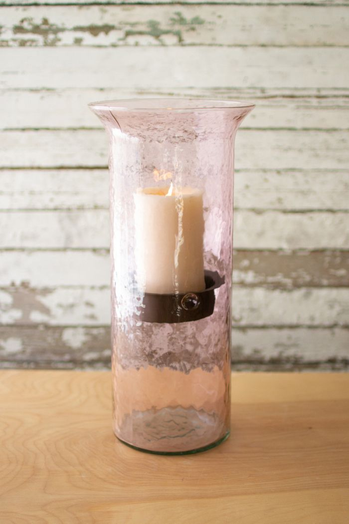 lilac candle cylinder