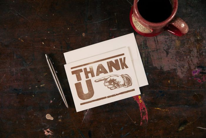 Hatch Showprint Thank You Card