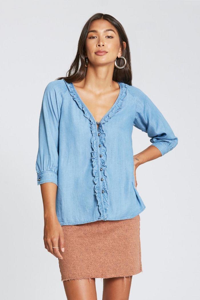 madalynn ruffled blouse