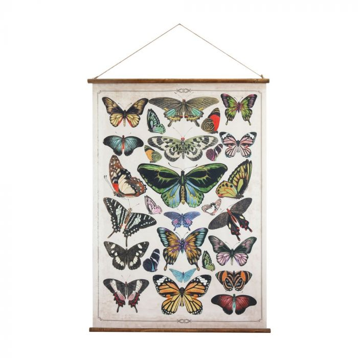 butterfly canvas & wood scroll