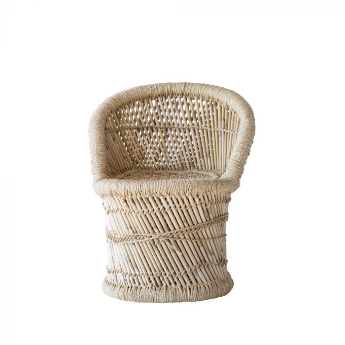 bamboo & rope childs chair