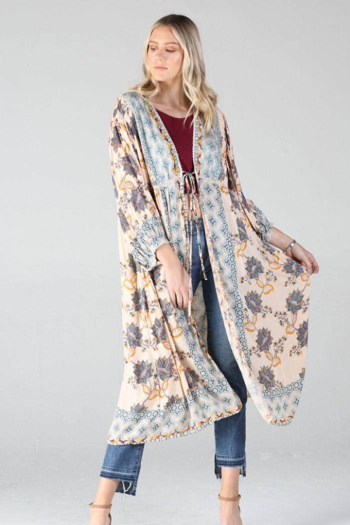 winifred floral kimono
