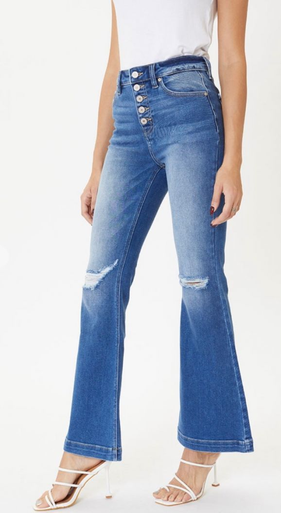 Kancan bowen button down flares