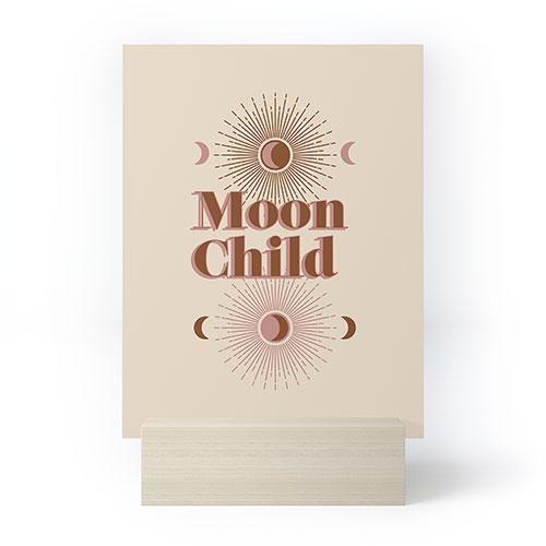 moon child mini art print