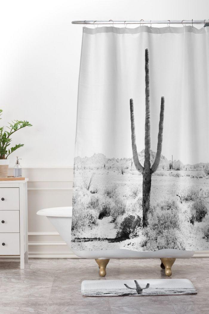 desert times shower curtain & mat