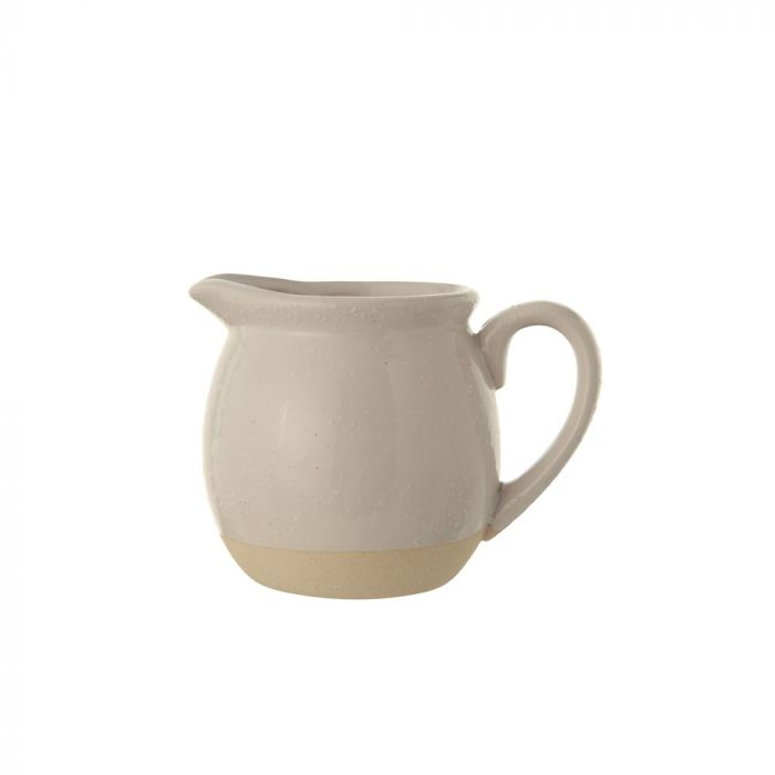 stoneware pitcher- white