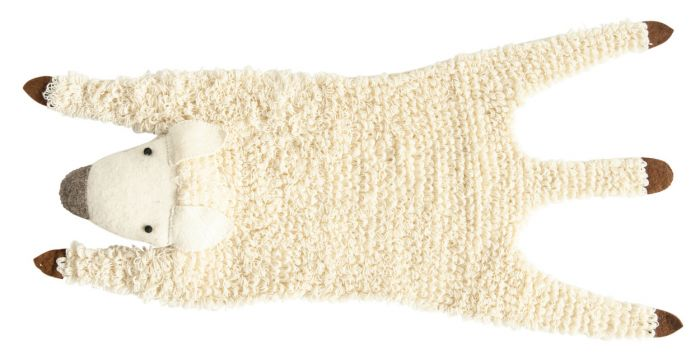handmade felt sheep rug