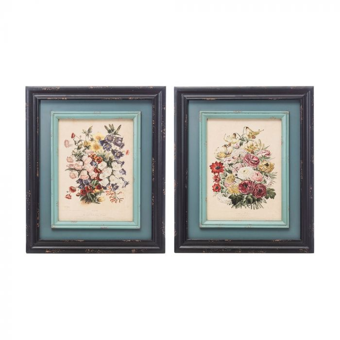 vintage floral wall decor