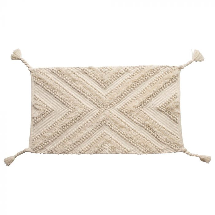 natural braided tassel rug