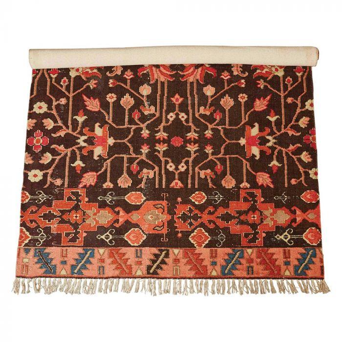 woven cotton printed rug
