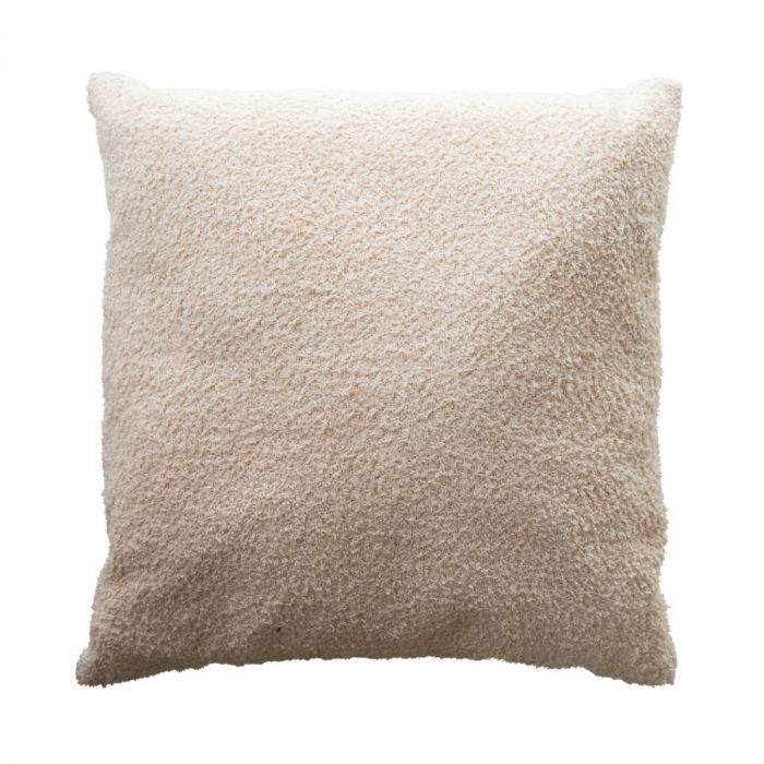 woven cotton boucle pillow