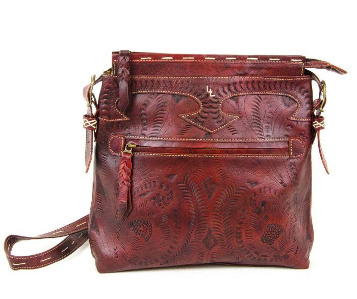 classic tooled vaquetta crossbody bag