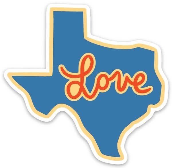 Texas Love Die Cut Sticker