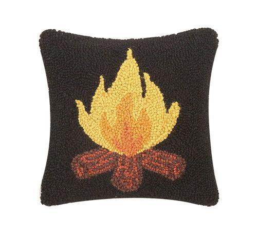 campfire hook pillow