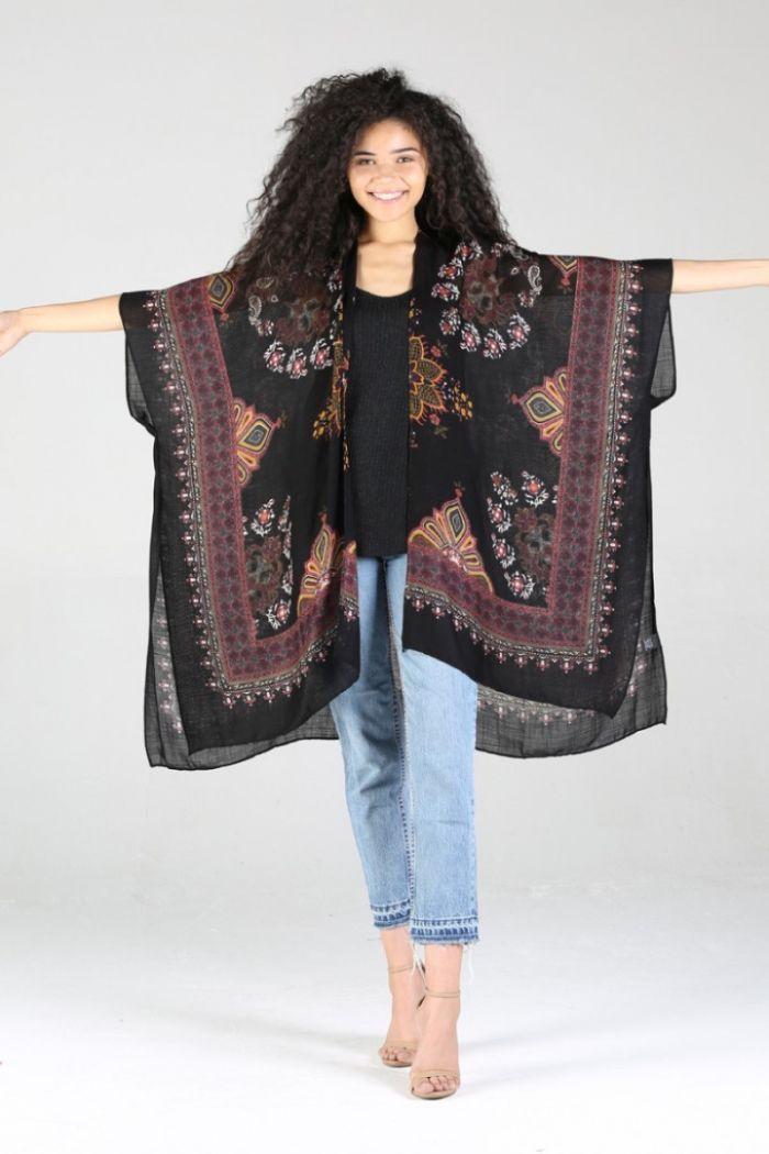 magic mantra scarf kimono