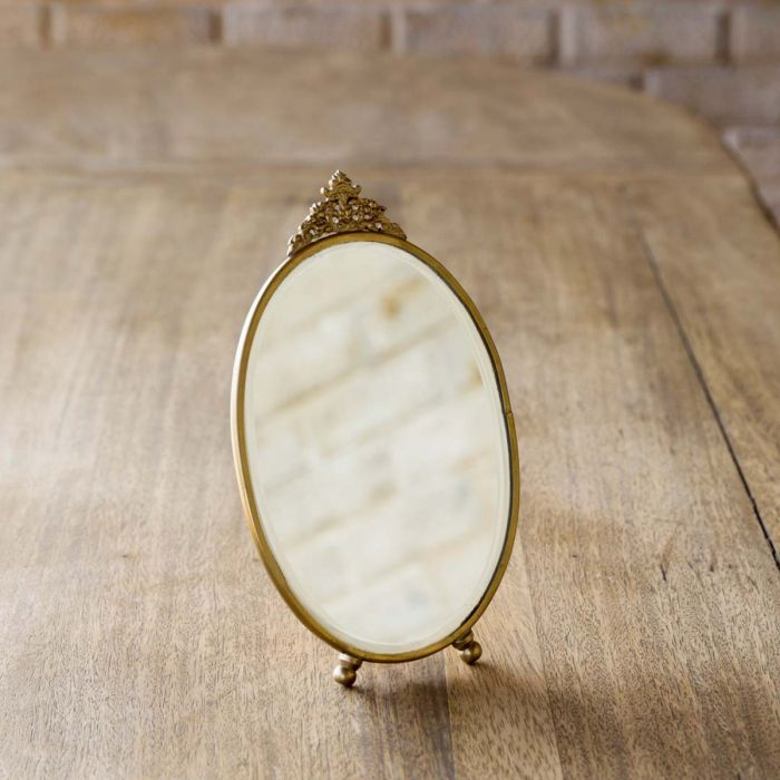 antique brass vanity mirror